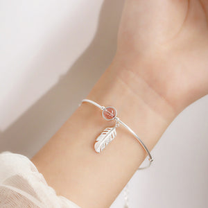 Crystal Angel Feather Bracelet