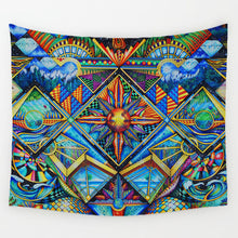 Load image into Gallery viewer, Hippie Mandala Tapestry Print