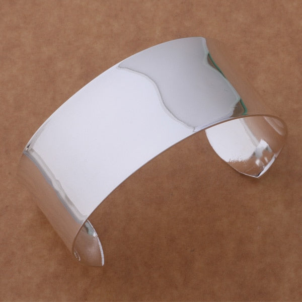 925 Silver Adjustable Plain Bangle