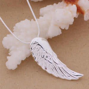 925 Sterling Silver Angel Wing Pendant