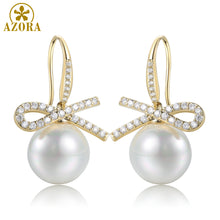 Load image into Gallery viewer, Infinity Pearl Drop Earrings