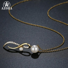 Load image into Gallery viewer, Infinity Pearl Necklace