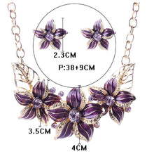 Load image into Gallery viewer, Austrian Crystal Boho Flower Set