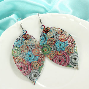 Psychedelic Leaf Earring