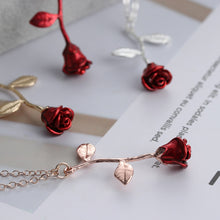 Load image into Gallery viewer, Rose Flower Love Necklace
