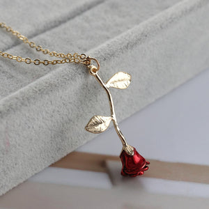 Rose Flower Love Necklace
