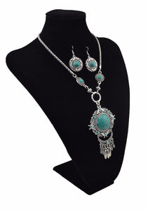 Polished Bead Stone Jewelry Set