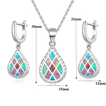 Load image into Gallery viewer, Rainbow Fire Opal Jewelry Set