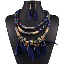 Load image into Gallery viewer, Exaggerated Feather Jewelry Sets
