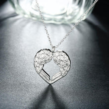 Load image into Gallery viewer, Silver Plated Heart Of Angel Necklace
