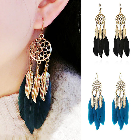 Boho Native Dream Catcher Earrings
