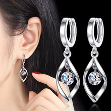 Load image into Gallery viewer, Silver Twist Earrings