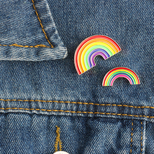 Hope Rainbow Pin Brooch