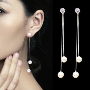 Pearl Drop Faux Earrings