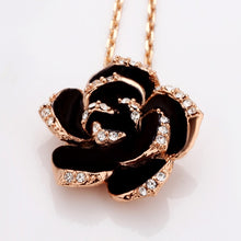 Load image into Gallery viewer, Dark Rose Flower Jewelry Sets