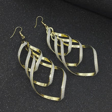 Load image into Gallery viewer, Regal Twist Drop Earrings