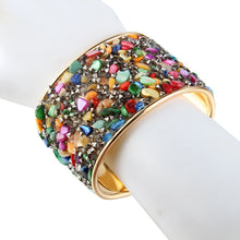 Load image into Gallery viewer, Boho Mosaic Cuff Bracelet