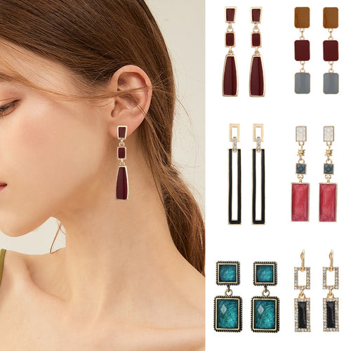 Geometric Vintage Earrings Collection