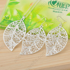 925 Sterling Silver Leaves Jewelry Sets