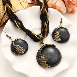 Handmade Bohemian Natural Stone Jewelry Sets