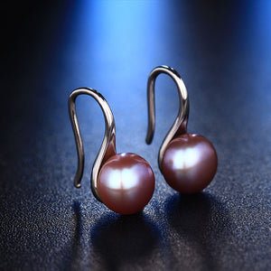 Freshwater Pearl Style Silver Earrings