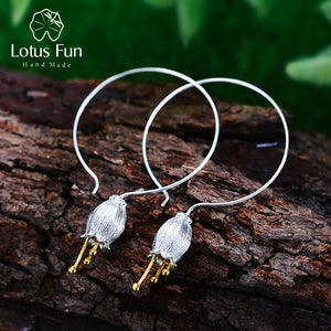 925 Sterling Silver Bud Earrings