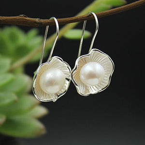 Luxury Pearl Drop Shell Earrings