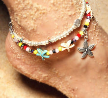 Load image into Gallery viewer, Boho Starfish Anklets