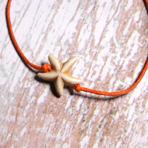 Handmade Weave Starfish 4 Pieces Anklets