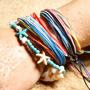 Natural Stone Starfish Boho Anklets