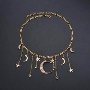 Enchanted Moon and Star Pendant