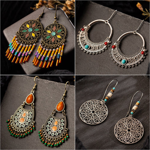 Vintage Handmade Boho Earring Collection
