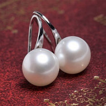 Load image into Gallery viewer, Faux Pearl Drop Earrings