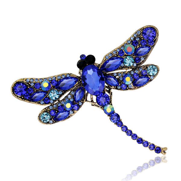 Austrian Crystal Dragonfly Brooches