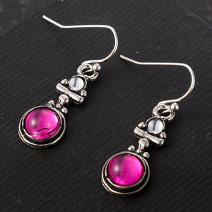 Pink Moonstone Drop Earrings