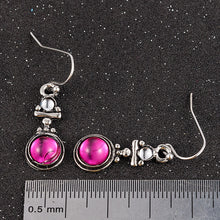 Load image into Gallery viewer, Pink Moonstone Drop Earrings