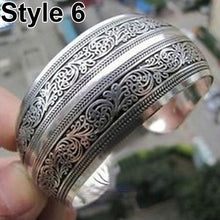 Load image into Gallery viewer, Tibetan Silver Elephant Bangle