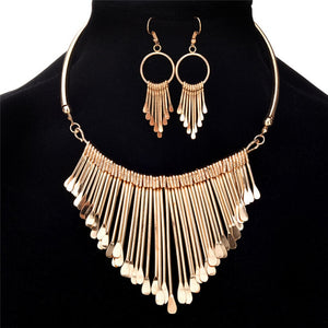 Boho Tassels Pendant Jewelry Sets