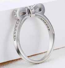 Load image into Gallery viewer, Bowknot Silver Crystal Ring