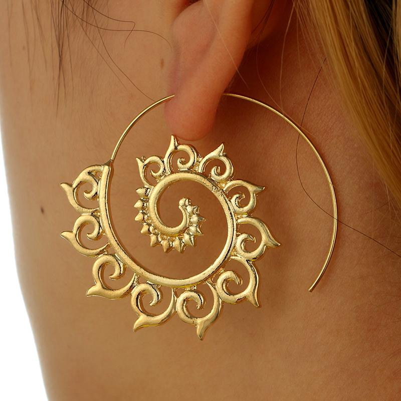 The Bohemian Golden Wave Earring