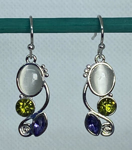 Moon Crystal Drop Earrings