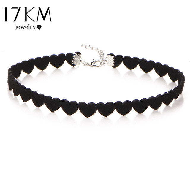 Black Velvet Skull Choker Necklace