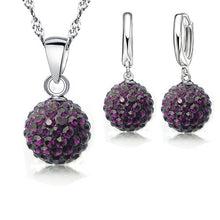 Load image into Gallery viewer, 925 Sterling Silver Austrian Crystal Jewelry Sets
