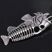 Load image into Gallery viewer, Exaggerated Fish & Fishing Hook Pendant