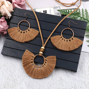 Bohemian Big Fringe Long Tassel Sets
