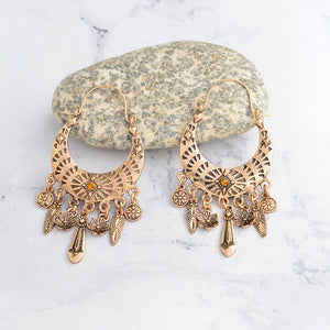 Ancient Silver Gold Color Earrings