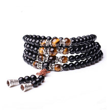 Load image into Gallery viewer, Obsidian Prayer Beads Mala Bracelet