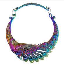 Load image into Gallery viewer, Peacock Rainbow Chokers