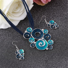 Load image into Gallery viewer, Silver Plated Swirl Jewelry Sets
