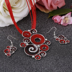 Silver Plated Swirl Jewelry Sets